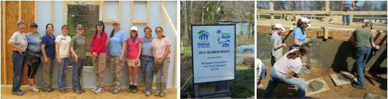 Greencraft :: LeAnn from Greencraft volunteers for the 2012 Woman Build Home with the Asheville Home Builder's Association.