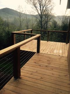 Buckner cabin - back deck